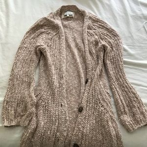 Anthropologie angel of the north Pink sweater